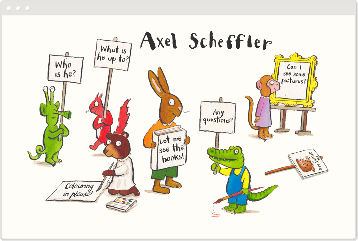 A page about The Gruffalo on Axel Scheffler's site