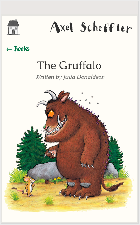 The homepage of Axel Scheffler's site